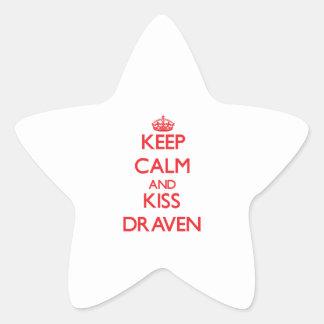 Keep Calm and Kiss Draven Star Sticker