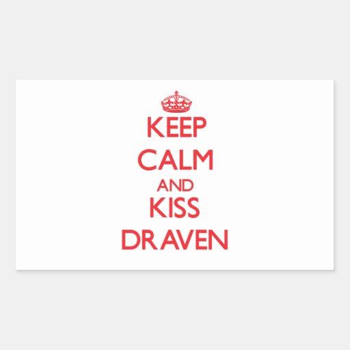Keep Calm and Kiss Draven Rectangular Sticker