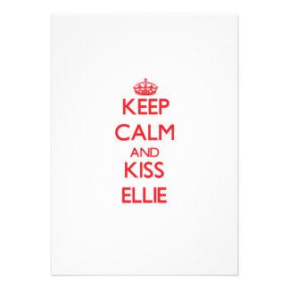 Keep Calm and kiss Ellie Announcement