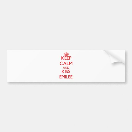 Keep Calm and kiss Emilee Bumper Stickers