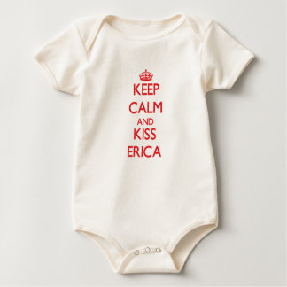 Keep Calm and kiss Erica Baby Bodysuit