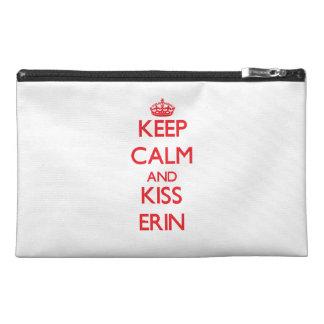 Keep Calm and Kiss Erin Travel Accessories Bag