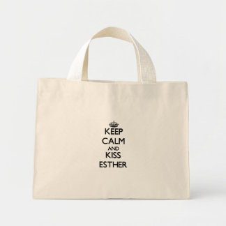 Keep Calm and kiss Esther Tote Bag