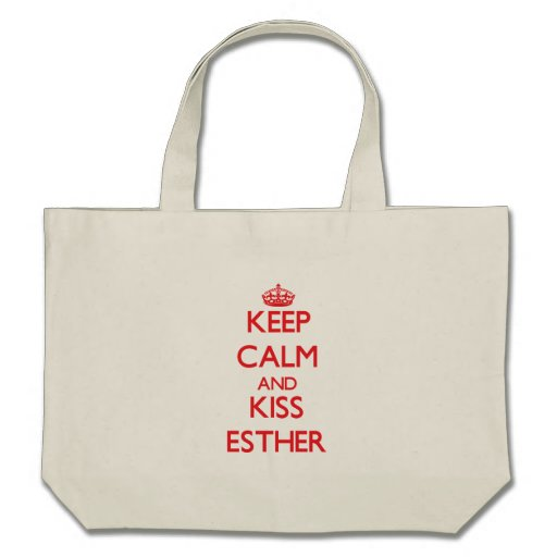 Keep Calm and kiss Esther Bags