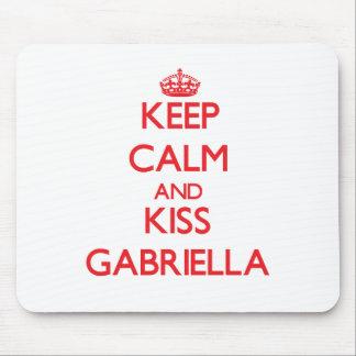 Keep Calm and Kiss Gabriella Mousepad