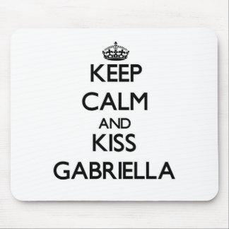Keep Calm and kiss Gabriella Mouse Pads