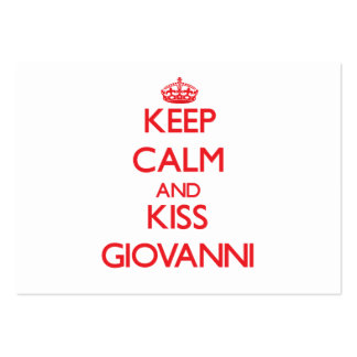 Keep Calm and Kiss Giovanni Business Card Template