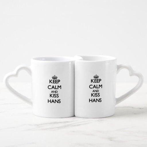 Keep Calm and Kiss Hans Lovers Mug Sets