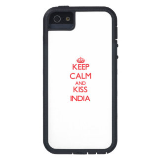 Keep Calm and kiss India iPhone 5 Cases