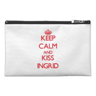 Keep Calm and Kiss Ingrid Travel Accessories Bags