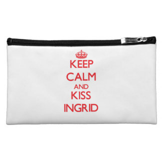 Keep Calm and kiss Ingrid Cosmetic Bags