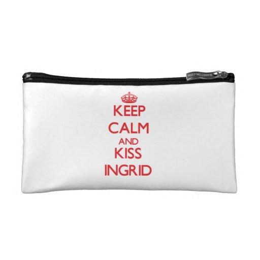 Keep Calm and Kiss Ingrid Makeup Bags