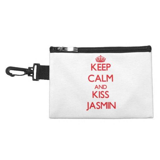 Keep Calm and Kiss Jasmin Accessories Bag