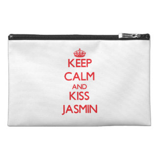 Keep Calm and kiss Jasmin Travel Accessory Bags