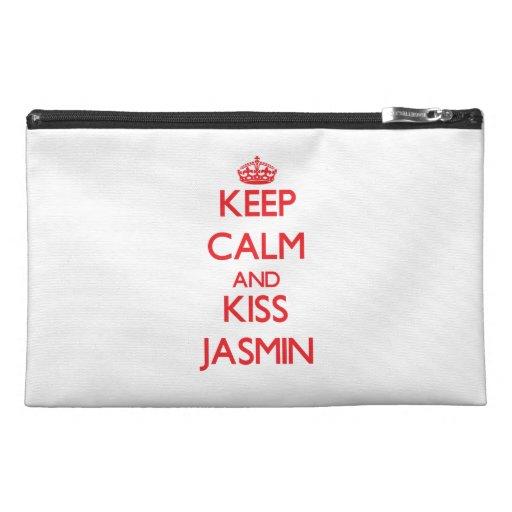 Keep Calm and kiss Jasmin Travel Accessory Bags