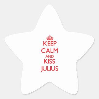 Keep Calm and Kiss Julius Stickers