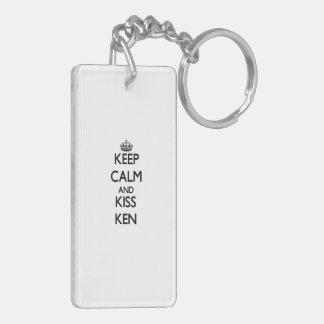 Keep Calm and Kiss Ken Key Chains