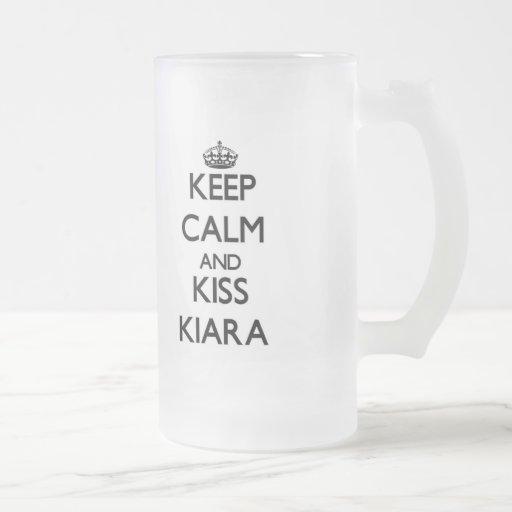Keep Calm and kiss Kiara Mug