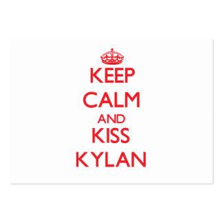 Keep Calm and Kiss Kylan Business Cards
