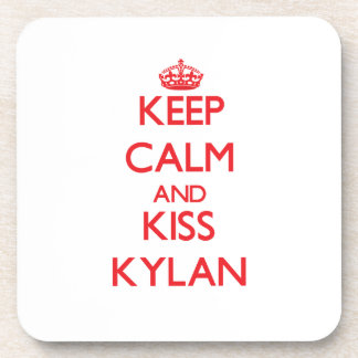 Keep Calm and Kiss Kylan Coasters