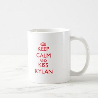 Keep Calm and Kiss Kylan Coffee Mugs