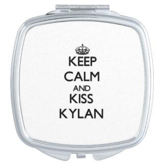 Keep Calm and Kiss Kylan Vanity Mirror