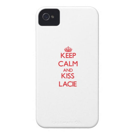 Keep Calm and kiss Lacie iPhone 4 Case-Mate Cases