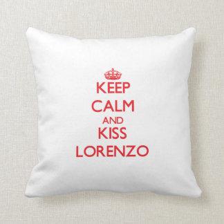 Keep Calm and Kiss Lorenzo Cushion