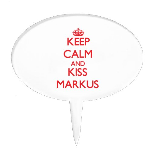 Keep Calm and Kiss Markus Cake Toppers