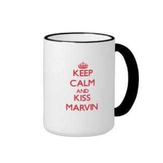 Keep Calm and Kiss Marvin Ringer Mug