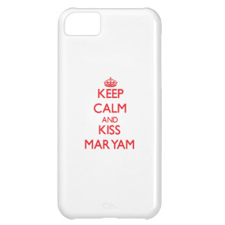 Keep Calm and Kiss Maryam Cover For iPhone 5C