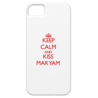 Keep Calm and Kiss Maryam iPhone 5 Covers