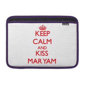 Keep Calm and Kiss Maryam MacBook Sleeves