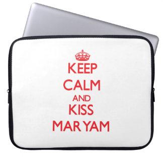 Keep Calm and Kiss Maryam Laptop Computer Sleeves