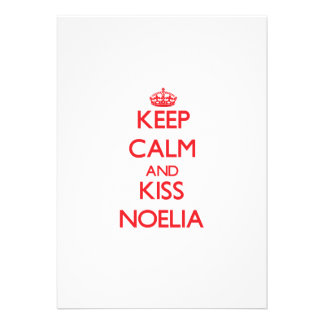 Keep Calm and Kiss Noelia Custom Invitations