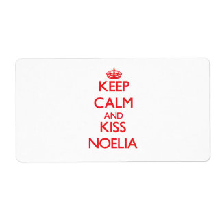 Keep Calm and kiss Noelia Shipping Label