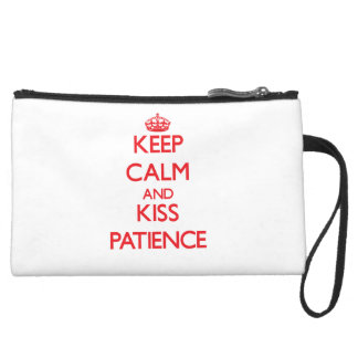 Keep Calm and Kiss Patience Wristlet