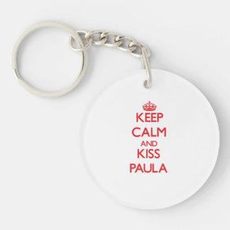 Keep Calm and Kiss Paula Acrylic Key Chain