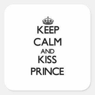 Keep Calm and Kiss Prince Stickers