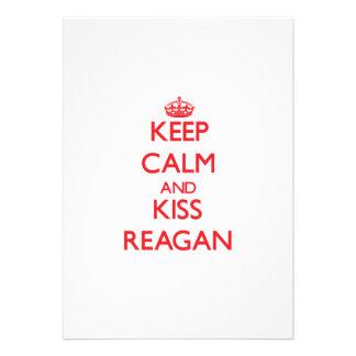 Keep Calm and Kiss Reagan Announcements