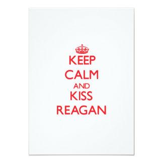 Keep Calm and Kiss Reagan 13 Cm X 18 Cm Invitation Card