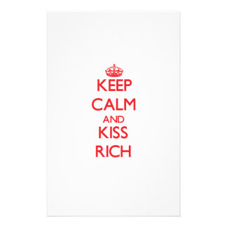 Keep Calm and Kiss Rich Stationery Design