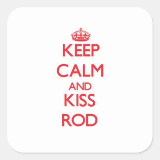 Keep Calm and Kiss Rod Sticker