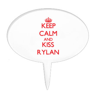 Keep Calm and Kiss Rylan Cake Toppers