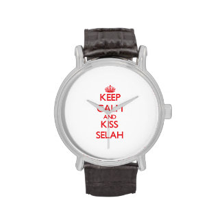 Keep Calm and Kiss Selah Wristwatches