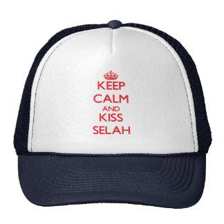 Keep Calm and kiss Selah Trucker Hats
