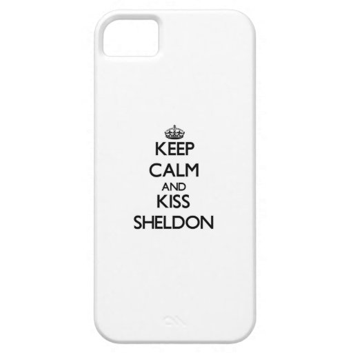 Keep Calm and Kiss Sheldon iPhone 5/5S Cover