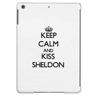 Keep Calm and Kiss Sheldon iPad Air Cases