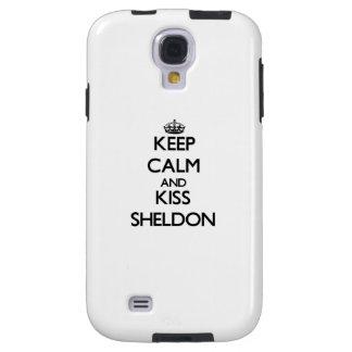 Keep Calm and Kiss Sheldon Galaxy S4 Case