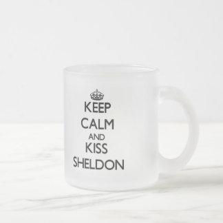 Keep Calm and Kiss Sheldon Mugs
